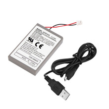 Professional 2000mAh Rechargeable Battery Extended Power Replacement For PS4 Controller With Cable Hot Sale in stock