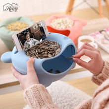 Multifunction Removeable Plastic Double Layer Dry Fruit Containers Snacks Seeds Storage Box Garbage Holder Plate Dish Organizer