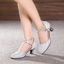 Ballroom Dance Shoes For Women Ladies Indoor Suede Sole Latin Tango Dancing Shoes Heeled 3.5/5.5/7cm