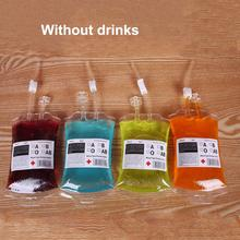1PC Brand New 350ml Clear Food Grade PVC Material Reusable Blood Energy Drink Bag Halloween Pouch Props Vampire