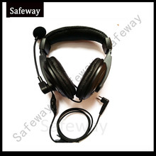 Two way radio headset with vox PPT push to talk and Swivel Boom Mic for walkie talkie Motorola CP040, CP200,GP300,GP88 etc