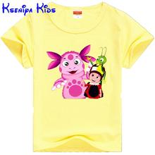 kseniya kids hot selling in Russia cartoon summer children t shirts cotton short sleeve boys t shirt kids clothes girl t shirt