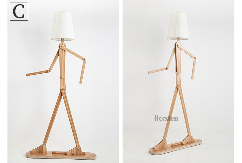 Japanese Style Creative DIY Wooden Floor Lamps Nordic Wood Fabric Stand Light For Living Room Bedroom Study Art Deco Lighting E27 (14)