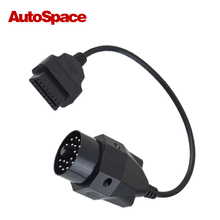 Car ECU Cable for BMW 20 Pin OBD Male to 16 Pin OBD2 Female Connector Line Adapter Computer Wire 20Pin 16Pin OBDII E36 E39 X5 Z3(China)