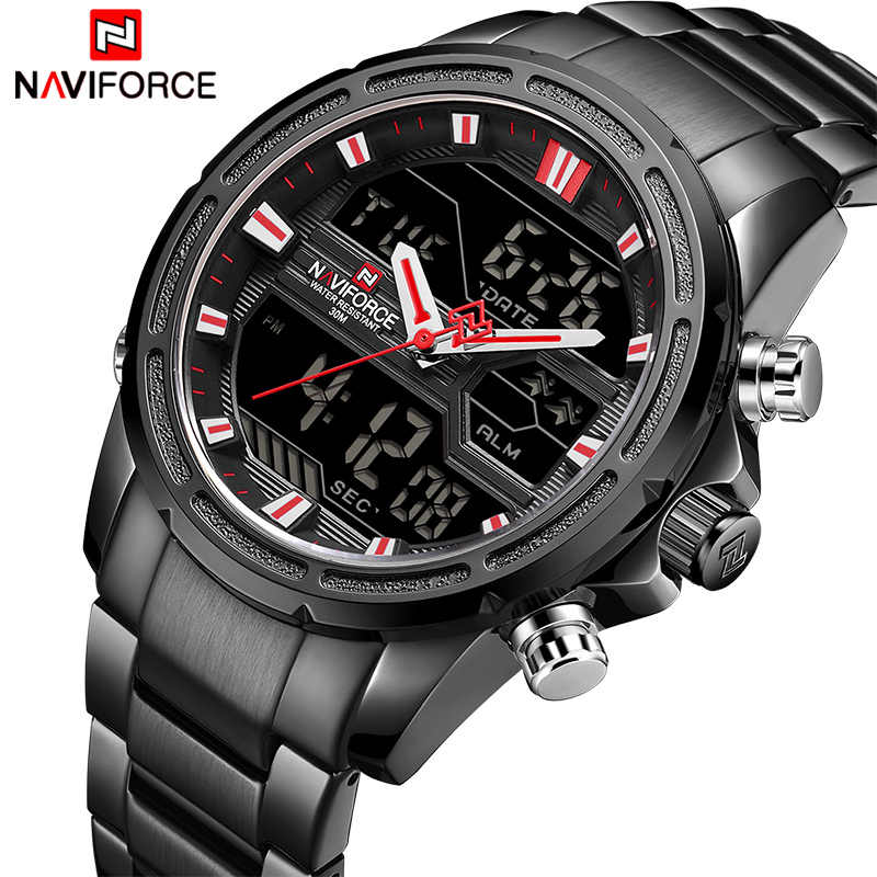0e78942a1 Men Watches Top Luxury Brand NAVIFORCE Male Sport Waterproof Full Steel  Wrist Watch Men's Quartz Digital