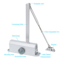 High Quality 65-85KG Automatic Hydraulic Arm Door Closer Mechanical Speed Control For Home Office Access Control