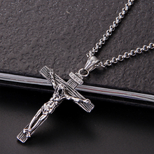 Buy Men Chain Christian Jewelry Gifts Vintage Cross INRI Crucifix Jesus Piece Pendant & Necklace Gold Color Stainless Steel for $1.01 in AliExpress store