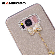 Buy Samsung Galaxy S6 S6 edge Luxury Diamond Bowknot Phone Case Rhinestone Crystal Bling Cover Galaxy S7 S7 edge S8 S8 Plus for $1.47 in AliExpress store