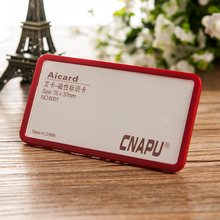 75*37mm 10pcs/lot customized office name tag holders abs material cheap price various magnetic chest cards holder #170418_a78