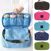 Travel Organizer Bra Underwear Pouch Cosmetic Bag Portable Luggage Storage 6 Colors Free Shipping(China)