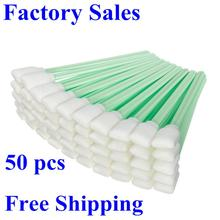( 50 swabs/pack) High quality cheap price sponge stick foam tip clean swab(China)