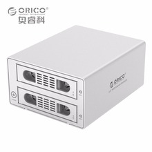 "ORICO 3529RUS3 Tool Free Aluminum 2 Bay 3.5"" SATA2.0 USB3.0&eSATA HDD External Docking Station RAID Function 2bay HDD Case 8TB*2(China)"
