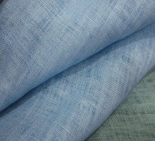 L11829 Pure  Linen Fabric 100% Linen Fabric 135 cm 55'' width 178 gsm clothes fabric blue beige color 50 meters small wholesale