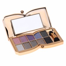 10 Colors Shimmer Matte Pigment Glitter Eyeshadow Palette Fashion Design Metallic Shadow Palette Makeup Tool For Christmas Decor