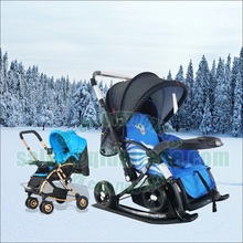 cart for infants winter snow ski stroller Kids Multi-Color Skiing Boards Children Snow Sledge Sled baby stroller(China)