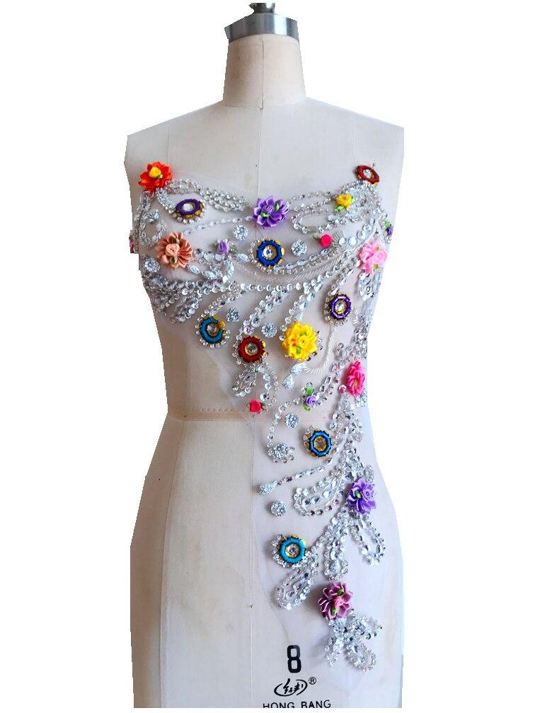 Аппликация на сетке для платья своими руками 14