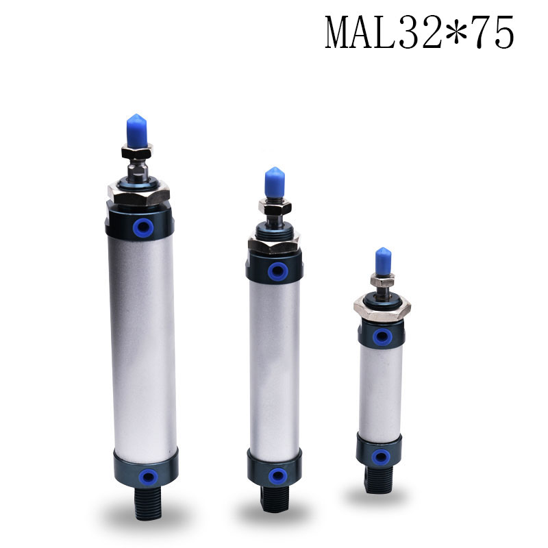1pcs MAL32*75/ 32mm Bore 75mm Stroke Compact Double Acting Pneumatic Air Cylinder<br>