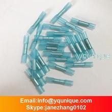 100PCS/LOT BLUE Dural seal 3M HEAT SHRINK BUTT CONNECTORS WIRE 14-16 AWG ELECTRICAL CRIMPING TERMINALS FREE SHIPPING