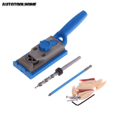 AUTOTOOLHOME Pocket Hole Jig System Drill Guide for Kreg Wood Doweling Joinery Screws Clamping Jig Woodworking Drilling
