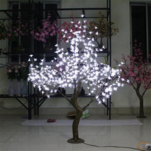 Free ship 5ft 1.5M White LED Simulation LED Cherry Blossom Tree Wedding Christmas Light deco(China)