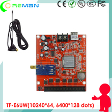 TF-E6UW led asynchronous display control card / Dot matrix one color double color led sign control card p4 p4.75(China)