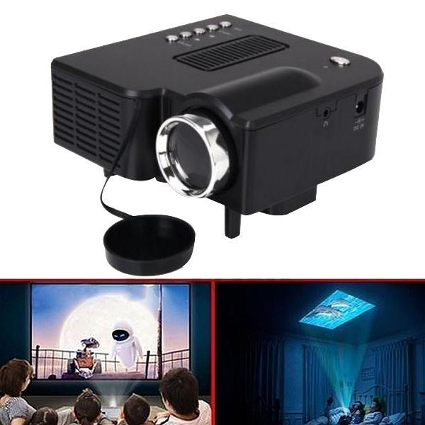 Mini Home Cinema Theater LED LCD Projector HD 1080P AV SD VGA USB +Remote<br><br>Aliexpress
