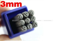 Hand Metal Marking Stamps Uppercase Punches Numbers Set 3MM SMB