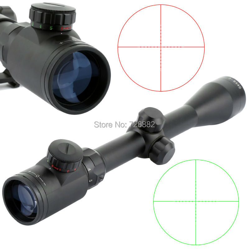 Tactical 3-9x40 Scope Riflescope Air Rifle Optics Red Green Dot  Reticle Sight Scope Night Vision With 20mm Rail Mount<br>