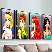 Butterfly Girl Full Diamond Painting Mosaic Cross Stitch Craft DIY 5D Diamond Embroidery Cartoon Princess Illustration Picture(China)