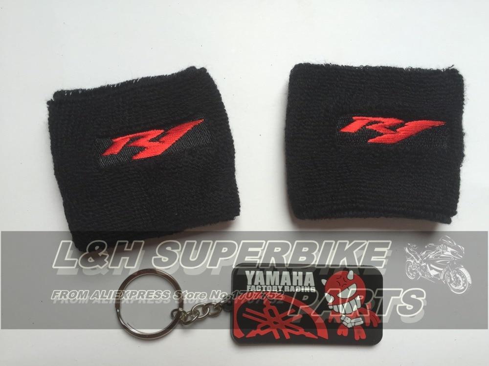 2 pcs Red R1 Logo YZF Reservoir Socks Sleeve For Yamaha YZF R1 YZFR1 Oil Fluid Tank Cover Sleeve <br><br>Aliexpress