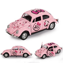 New 1/32 diecast cars Children's toy alloy car back of the beetle toy car  Pull Back Cars Model males girl toy for children