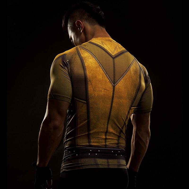 Short Sleeve 3D T Shirt Men T-Shirt Male Crossfit Tee Captain America Superman tshirt Men Fitness Compression Shirt Punisher MMA 46