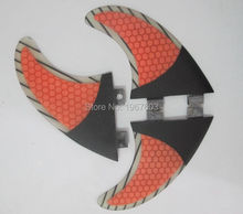 High quality G5 3K Carbon surf fin FCS surf fin Tri set for SUP surfboard thruster option 3pcs for profession surf