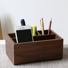 Wooden Office Desk Organizer Multi-functional Home Office Desk Supplies Stationery Holder Wooden Pen Stand Wooden Pen Holder