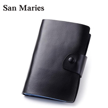 Best Men&Women's 120 Card places Genuine Leather Card Holder Big Capacity Bank Credit Name Business Cards Bag Book Gifts