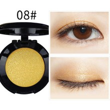 Fashion Pure Pigment Single Yellow Eyeshadow Palette 19 Color Makeup Glitter Artist Gold Eye Shadow Iridescent  E08#