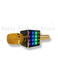 10pcs/L  Flash-LED Light H8  Bluetooth Karaoke Microphone Moblie Phone KTV Music Player Speaker With Professional Sound Mixer