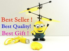 Best Price Recommend 6688 Remote Control RC Despicable Me Minion Helicopter Quadcopter Drone Ar.drone Toys