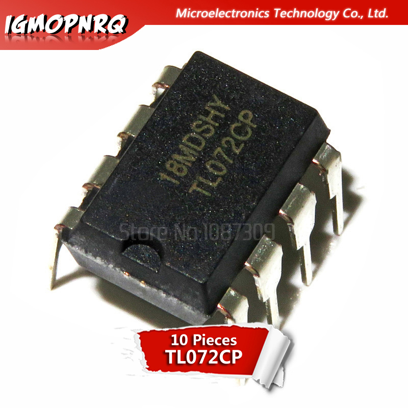 10 pcs TL081CP in-line DIP-8 buffer amplifier  DFCG$