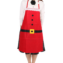 Christmas Kitchen Bar Decor Santa Claus Red Non-woven Xmas Family Party Aprons Hot Selling 5076 Hot(China)