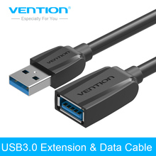 Vention Newest USB3.0 Extension Cable 0.5m 1m 2m 3m Male to Female Extension Data Transfer Cable Super Speed Cable For Hard Disk(China)
