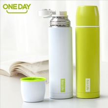 ONEDAY chinese famous brand ECO 450ml vacuum flask 304 stainless steel lovers vacuum nullet thermoses(China)