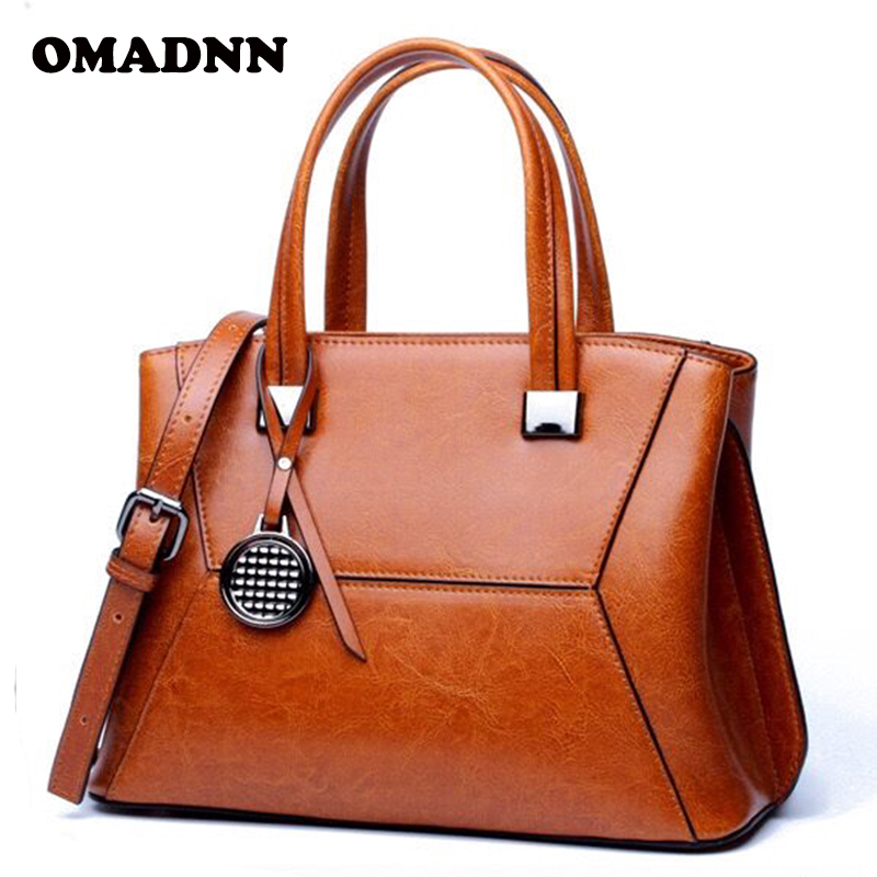 OMADNN Brand handbag leather crossbody single shoulder bags for women fashion lady casual tote 4 color gray/red/brown/blue<br>