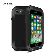 Buy LOVE MEI Powerful Metal Case Apple iPhone 7 Life Waterproof Shockproof Aluminum Cover iphone7 4.7 inch + Gorilla Glass for $28.00 in AliExpress store