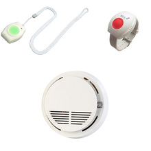 Panic Button Alarm GSM SOS Button Wireless 433MHz For Elderly Smoke Detector Sensor Fire Alarm Photoelectric Smart Home System