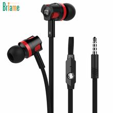 Briame Earbuds Sport Headphones Noise Isolating In Ear Earphones Headset with Mic for Mobile phone Universal iphone 5 5S 6 6S(China)
