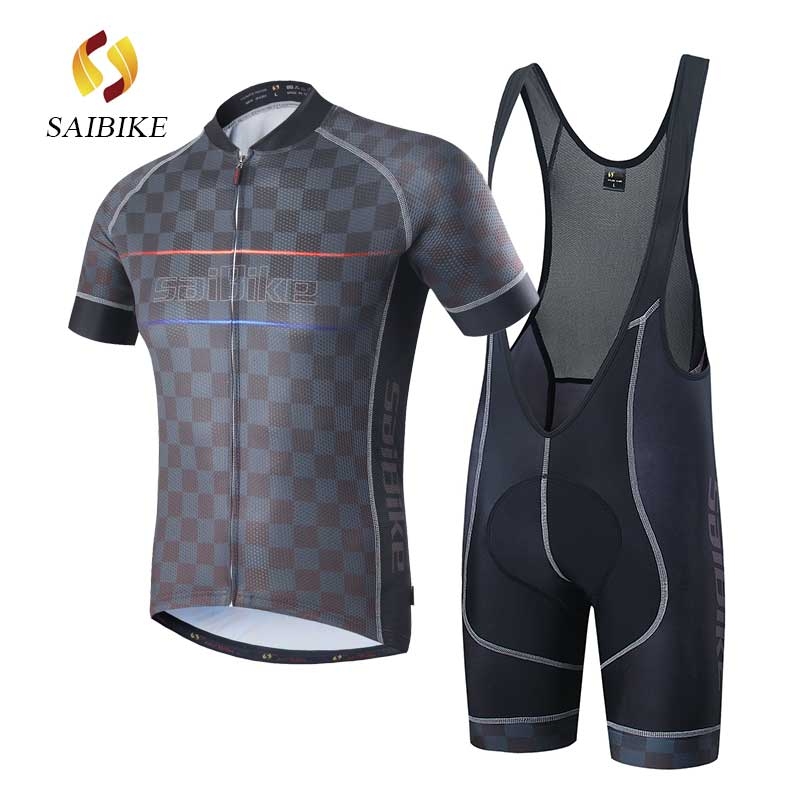 saiBike Cycling Jersey BiB shorts Set Ropa Ciclismo Clothes Quick Dry Bicicleta wear fietskleding wielrennen zomer heren sets<br>
