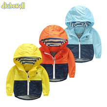 New Boy Girls Jacket Coat Kids Toddler Hooded Windbreaker Children Outerwear Kids Patchwork Jacket Coat Baby Clothes 2017 Hot