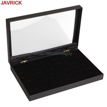 36 Slot Ring Jewelry Display Storage Box Tray Show Case Organiser Earring Holder #H058#