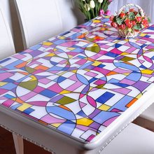 Popular Sale PVC Tablecloth Oilproof Waterproof Soft Glass Rectangle Table Cover Home Party Banquet Tablecloth